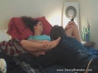 Step son licking pussy his step mom