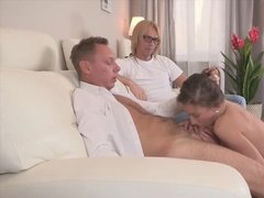 Office boss fucked wife for husband mistake