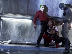 Fake harley quinnfucked by batman and joker